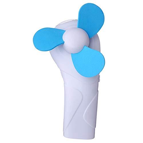 WDFDZSW Verano portátil Mini Ventilador Lindo de la Esponja de la Cuchilla de la batería de la Linterna eléctrica Linterna Ventilador portátil (Color : Blue)
