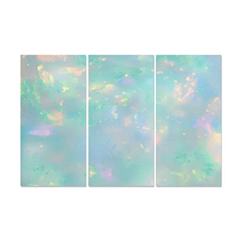 QiyI 3 Panel Japanese Art Wall Decor Beautiful Noble Art Shines Girl Opal Wall Paintings for Kitchen Hanging Wall Art Painted Walls for Home Living Room Bedroom Bathroom Wall Decor Posters