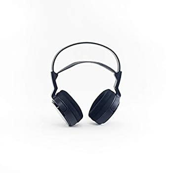 Sony MDR-RF912RK Over-Ear Wireless Radio Frequency Stereo TV Headphone System with 40mm Drivers Noise Reduction and Long Wireless Range Black  Non-Retail Packaging   MDR-RF912RKCR   Renewed