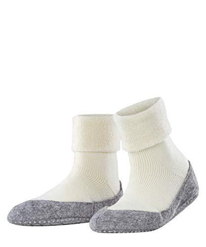 FALKE Damen Cosyshoe W HP Hausschuh-Socken, Blickdicht, Weiß (Off-White 2049), 39-40