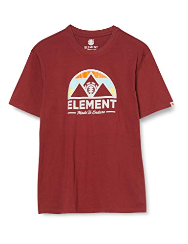 Element Herren Squaw SS Tees, Port, XS