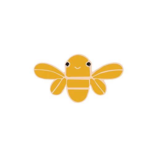 Broche de moda de dibujos animados lindo abeja mosca insecto broche niños niñas ropa accesorios negro amarillo esmalte pin-estilo 4