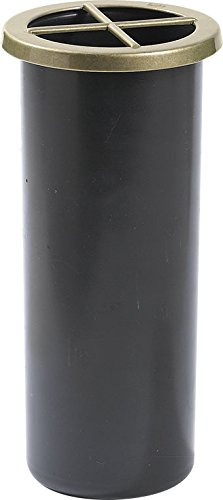 Portafiori Interno in plastica per Vaso da cimitero H.18,5 cm. D.8 cm. Art. P8N.8,5 con ghiera in Metallo Inclusa.