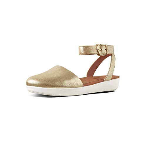 Fit Flop Cova Tm Closed Toe Sandalen Metallic, Ballerina met enkelband voor dames