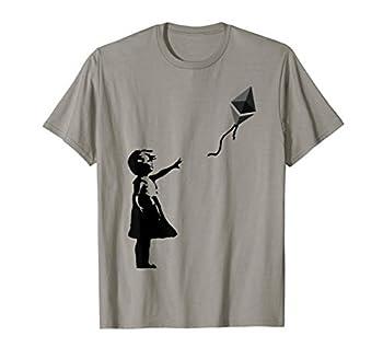 Girl with eth balloon crypto ethereum for cypherpunks T-Shirt