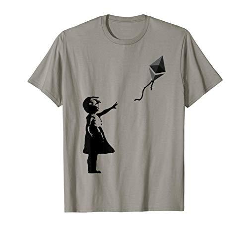 Mädchen mit ETH Ballon Krypto Kryptowährung für Cypherpunks T-Shirt