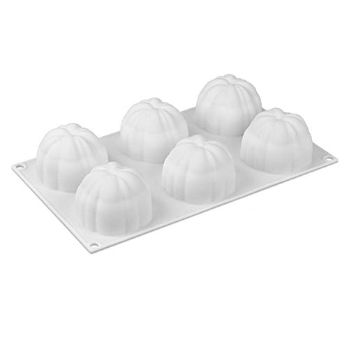 ARONTIME 6 Cavidad Calabaza de Silicona 3D hornada de la Torta del Molde de pastelería Mousse de Chocolate del Molde