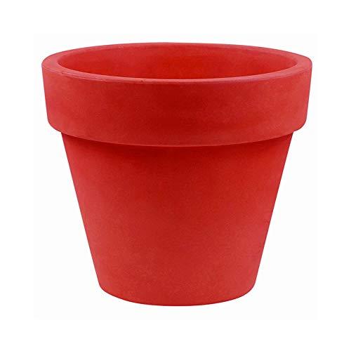 Vondom Maceta bloempot, diameter 50 cm, hoogte 43 cm, rood