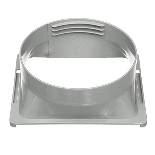 Woyada - Accoppiatore/accoppiamento/connettore per tubo di scarico, 150 mm, tubo di scarico quadrato
