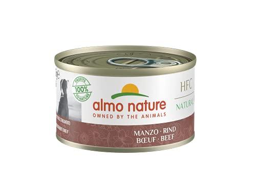 almo nature Comida Húmeda Natural de Buey latas x Alimento para Perros Monoproteíco Enlatado HFC Cuisine. Snack Complementario sin Gluten, 95 g (Paquete de 24), 2280 🔥