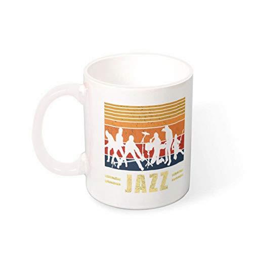 O3XEQ-8 Taza de café con asa, cerámica lisa, regalo para hombre, para restaurante blanco, 330 ml