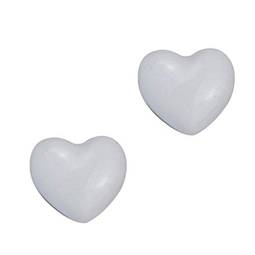 PETSOLA Hardware A Pomello con Pomello A Tirante in Ottone A Forma di Cuore - Bianca
