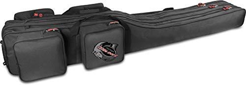normani Angeltasche Rutentasche mit 3 Rutenkammern für 6 Ruten 1,25 m RodBox Triple Farbe Schwarz