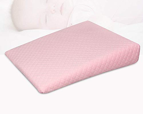 Tiners Anti-Spucke Milch Baby Kissen Triangle Slope Memory Baumwolle Baby Kissen,Pink