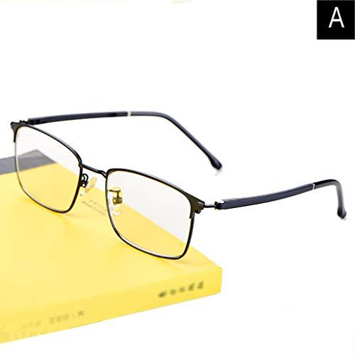 WILK anti-uv-bril HD Vision leesbril, middelbare leeftijd en oudere, anti-blauwe bril, automatische intelligente zoom (2 kleur)