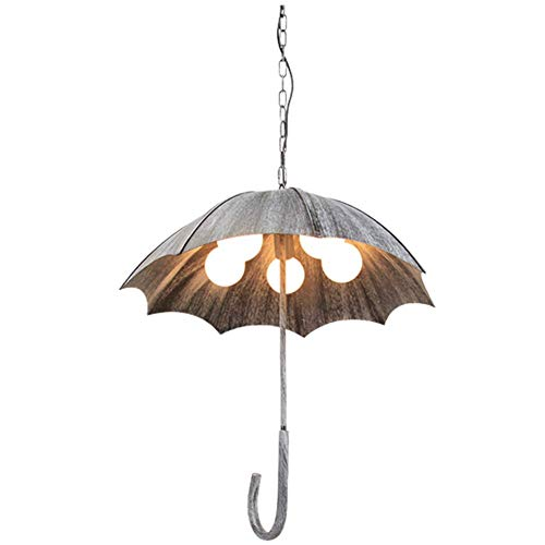 Hanglamp, industrieel geïnspireerd, vintage, paraplu van Amerikaans ijzer, voor café, restaurant, studio, bar, lamp-A, 58 x 60 cm