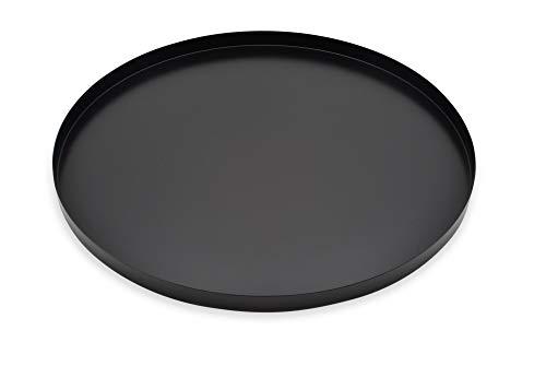 D&D Living Dekotablett Rund Ø 40 cm | Design Dekoteller und Deko Tablett für Ihre Osterdeko aus Metall (Schwarz matt)