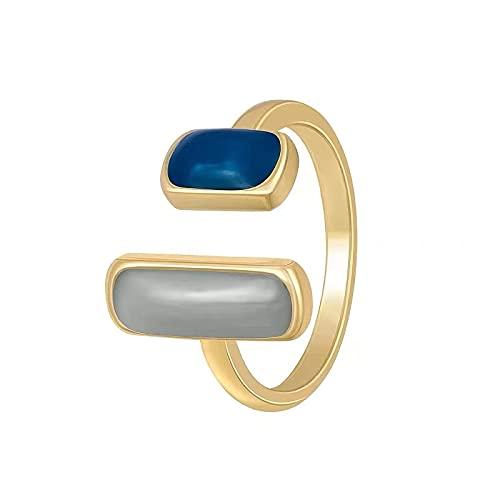 Estilo retro francés ligero anillo de personalidad de lujo moda ins diseño de nicho alta moda sentido apertura del anillo del dedo índice