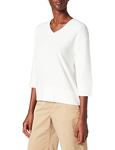 Street One Damen 316770 T-Shirt, Off White, 42