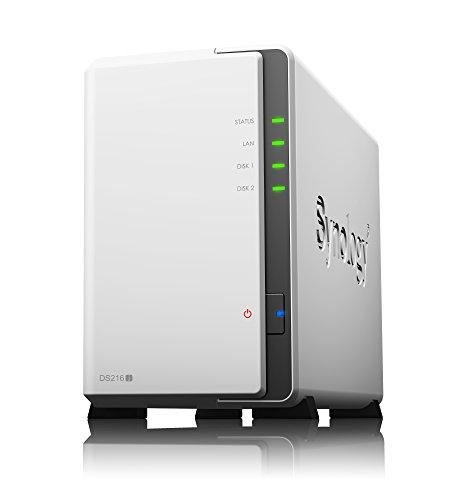 【NASキット】Synology DiskStation DS216j デュアルコアCPU 2ベイNASキット DTCP-IP対応可 CS6426