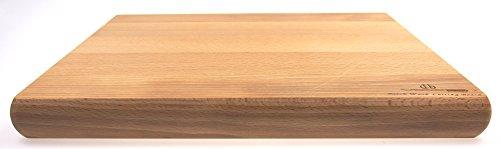 Grande planche à découper en bois de hêtre 40 x 30 x 4 cm