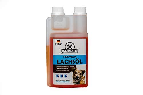 Canemus Omega 3 Lachsöl 500ml - Fischöl für Hunde,Katzen und Pferde