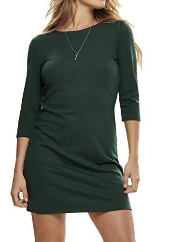 Only Onlbrilliant 3/4 Dress Jrs Noos Vestito, Verde (Pine Grove Pine Grove), X-Small Donna