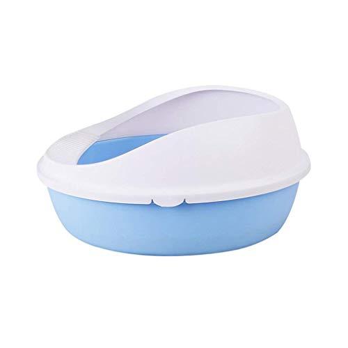 CHONGWFS Fácil De Limpiar Y Desodorante Suministros para Gatos Semi-Cerrado Anti-Salpicaduras Cat Sand Basin Cat Litter Cat Toilet Pet Supplies (Tamaño : Large)