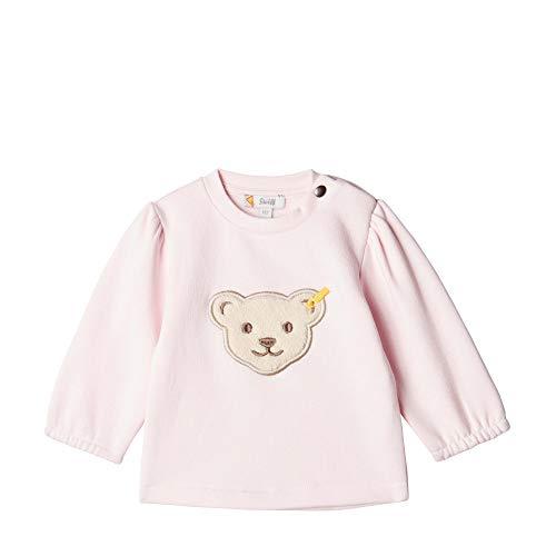 Steiff Baby-Mädchen Sweatshirt, Rosa (BARELY PINK 2560), 80 (Herstellergröße:80)
