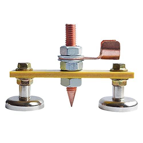 Soporte de soldadura magnético Abrazadera de tierra 65x10 mm Cabeza magnética de soldadura Soporte de alambre de seguridad Cola de cobre Abrazaderas de estabilidad de soldadura con cola de cobre