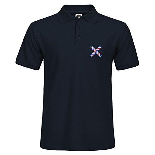 Solid Polo con poste de Barbero cruzado retro impresión verano camiseta deportiva de manga larga tamaño