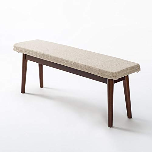 Effen houten bed einde kruk, zitkussen verwijderbaar en wasbaar lange bank, vrije tijd lange bank eetbank bank bank bank bank bank bank bank voor schoenen