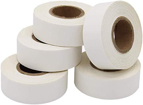 ChromaLabel Labeling Tape Value Pack, 5 Rolls of White Tape, 500 inch Rolls, 3/4 inch