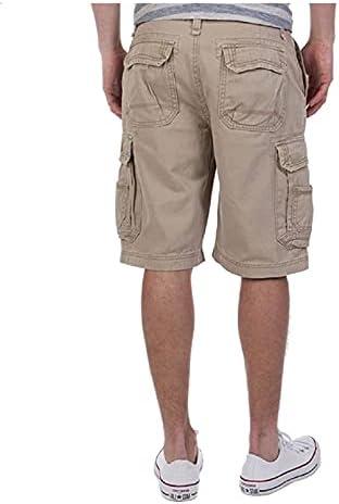 Men's Active Cotton Blend Cargo Pocket Lightweight Casual Fit Belted Shorts
