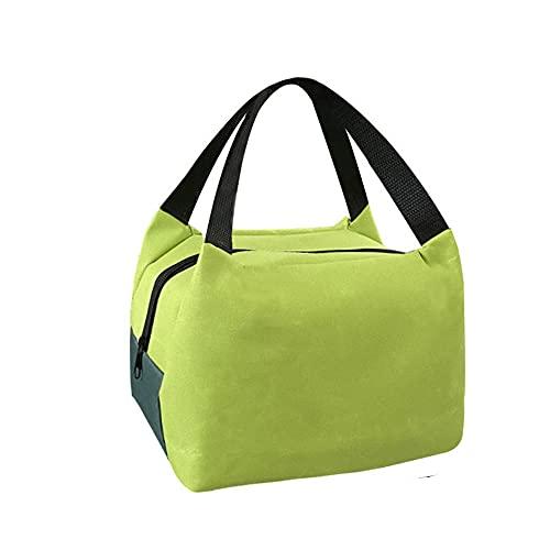 HANMOU Nevera portátil para almuerzo, para mujer, con aislamiento, para sándwich, para almuerzo, para picnic, color verde, 22 x 16 x 17 cm