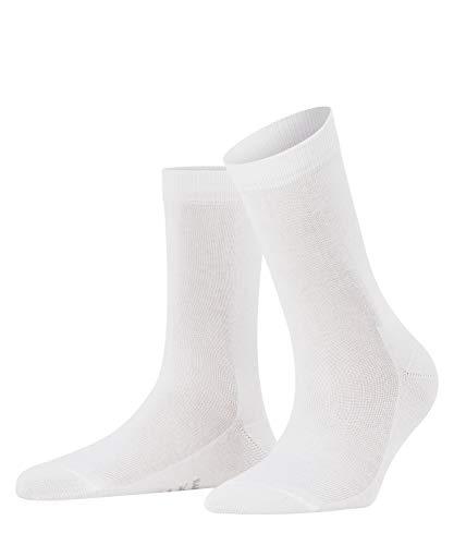 FALKE Damen Socken Family - 94% Baumwolle, 1 Paar, Weiß (White 2009), Größe: 39-42