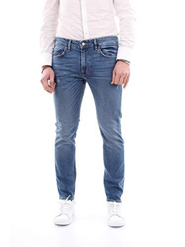 Guess M91A27 D3HX0 FLMS Denim - Pantalones vaqueros para hombre Azul Size: 28 EU