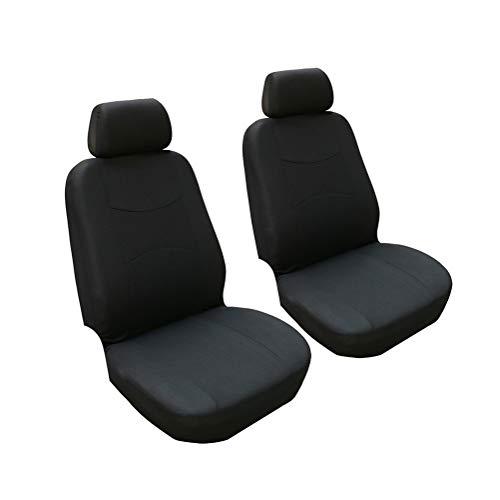 GUOCU Autositzbezüge, Komplettset Vordersitze und Rücksitze Universal, Autoinnenausstattung Auto-Schonbezüge Schwarz 4 Stück