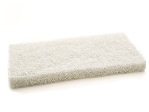 The Simple Scrub Tile + Mop Brush Cleaning Pads Refill | Clean Bathroom Tile, Kitchen, Hard to Reach Places | Low Abrasion for Grout + Bathtub | White, 5 Pack
