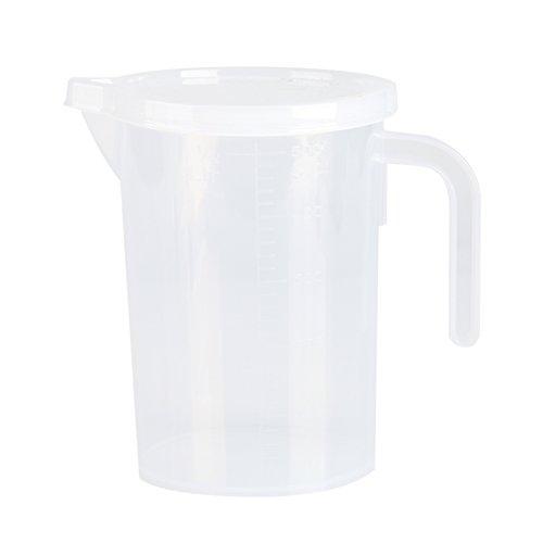 Vaso medidor, recipiente medidor con tapa Plástico 0.5/1L Aislar las bacterias Vaso medidor Herramientas para hornear de cocina Durable para cocina(500ML)