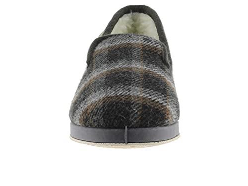 victoria Alpargata WAMBA Confortable Zapatilla DE CASA Textil Cuadros H/Torcido 202001-MEN para Hombre Gris 43