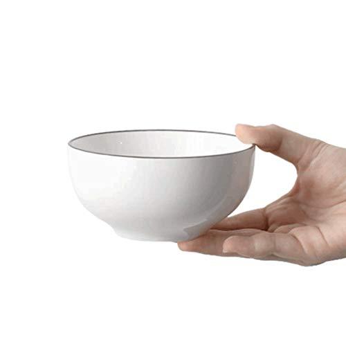 SCDMY Cuenco de cerámica Simple, vajilla práctica for el hogar, Verduras de Pasta y Ensalada de Frutas Cuenco de gachas de Avena Cuenco de Sopa (Size : 11.5 * 5.5cm)