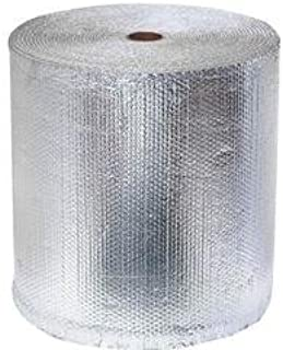 Double Bubble Reflective Insulation (100 sq ft roll | 24-inch X 50-feet) Vapor Barrier Bubble Insulation for Metal Building, Pole Barn, Basement, Crawlspace & More by RadiantGUARD