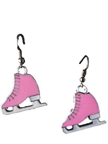 Ohrringe Hänger pink/rosa Schlittschuh Eis Sport Sport eislaufen Winter 9175