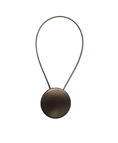 Magnet Clip - Dekomagnet - Ø 28 mm mit Drahtschlaufe - z.B. zum Raffen von Gardinen, Rost