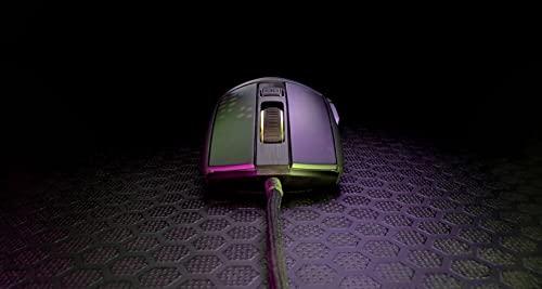 Roccat Burst Pro – Extrem leichte Optical Pro Gaming Maus (hohe Präzision, Optischer Owl-Eye Sensor (100 bis 16.000 Dpi), RGB AIMO LED Beleuchtung, 68g leicht, Designt in Deutschland), schwarz - 2