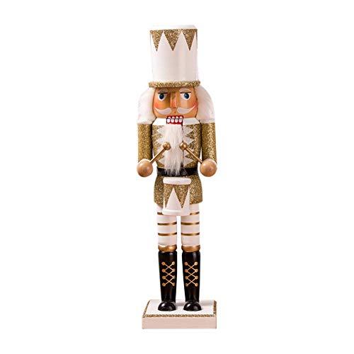 Weihnachten Nussknacker, hölzerne Nussknacker Soldat Figur Display für Weihnachtsschmuck Home Office Desktop Puppe Ornamente Puppe Spielzeug Geschenk 38 cm