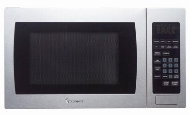 Magic Chef 0.9 Cu. Ft. 900 Watts Countertop Microwave in Stainless Steel by Magic Chef