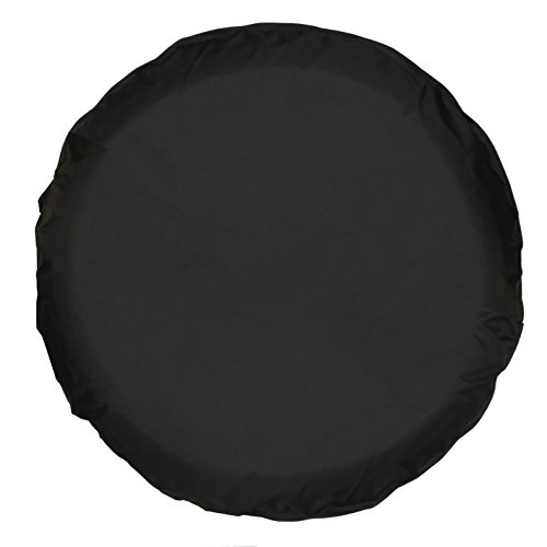 Moonet PVC Thickening Leather Spare Tire Wheel Cover for Car Truck SUV Camper Trailer Universal Fit RV JP FJ,R18 XXL Black (for Overall Wheel Diameter 34-35 inch)