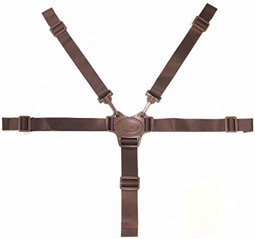 High Chair Straps Replacement, Adjustable Harness Baby Safety Strap Belt for Stroller Pushchair Pram Buggy High Chair Baby Harness Safety Harness Strap Belt (Brown) …